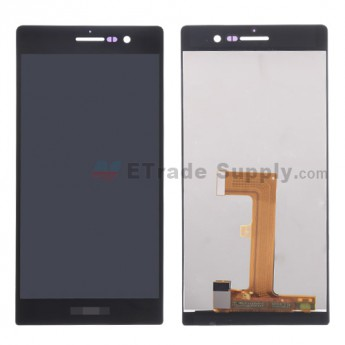 For Huawei Ascend P7 LCD Screen and Digitizer Assembly Replacement - Black - With Logo - Grade S+