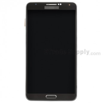 For Samsung Galaxy Note 3 N9005 LCD Screen and Digitizer Assembly with Front Housing Replacement - Black - Grade S+