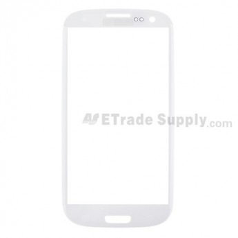 For Samsung Galaxy S III (S3) GT-I9300/I9305/T999/I747/R530/I535/L710 Glass Lens Replacement - White - Grade S+