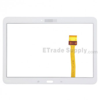 For Samsung Galaxy Tab 4 10.1 Samsung-T530 Digitizer Touch Screen Replacement - White - With Logo - Grade S+