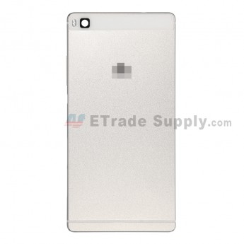 For Huawei P8 Rear Housing Replacement - White - With Logo - Grade S+