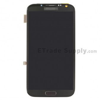 For Samsung Galaxy Note 2 LTE N7105 LCD Screen and Digitizer Assembly with Front Housing Replacement - Gray - Grade S+