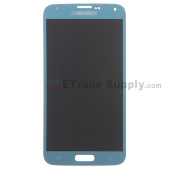 For Samsung Galaxy S5 Samsung-G900 LCD Screen and Digitizer Assembly Replacement - Blue - With Logo - Grade S+