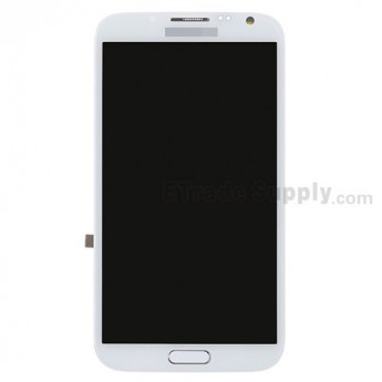 For Samsung Galaxy Note 2 LTE N7105 LCD Screen and Digitizer Assembly with Front Housing Replacement - White - Grade S+