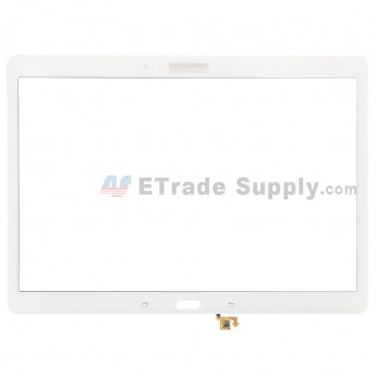 For Samsung Galaxy Tab S 10.5 Samsung-T800 Glass Lens Replacement - White - With Logo - Grade S+