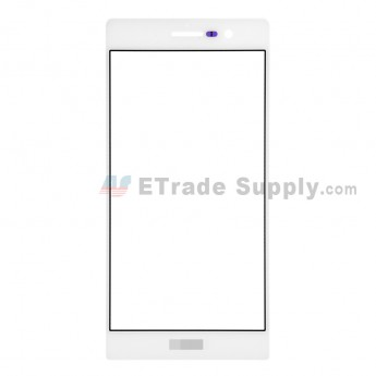 For Huawei Ascend P7 Glass Lens Replacement - White - With Logo - Grade R