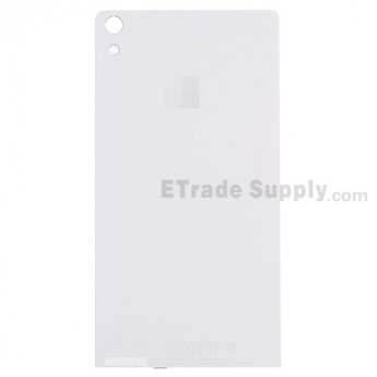 For Huawei Ascend P6 Battery Door Replacement - White - Grade S+