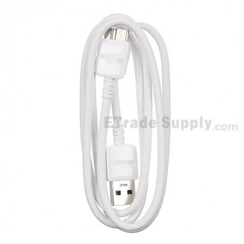 For Samsung Galaxy S5 Series USB Data Cable - White - Grade S+
