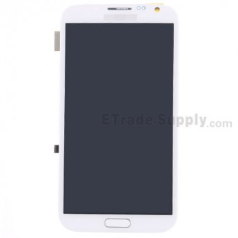 For Samsung Galaxy Note 2 SCH-I605/SPH-L900 LCD Screen and Digitizer Assembly with Front Housing Replacement - White - Grade S+