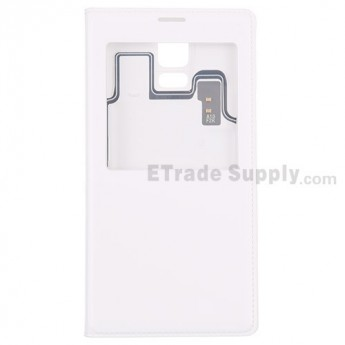 For Samsung Galaxy S5 Series Leather Case Replacement - White - Grade S+