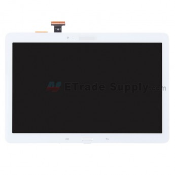 For Samsung Galaxy Note 10.1 2014 Edition Samsung-P600 LCD Screen and Digitizer Assembly with Front Housing Replacement - White - With Logo - Grade S+