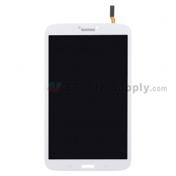 For Samsung Galaxy Tab 3 8.0 Samsung-T310 LCD Screen and Digitizer Assembly Replacement - White - With Logo - Grade S+