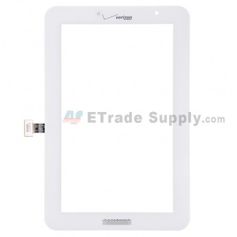 For Samsung Galaxy Tab 2 7.0 I705 Digitizer Touch Screen Replacement - White - With Logo - Grade S+