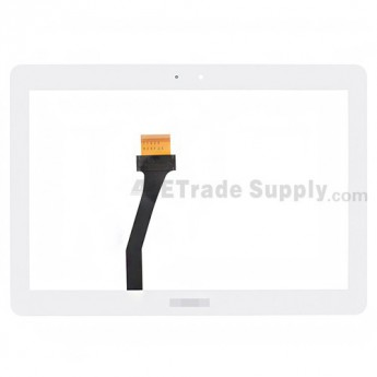 For Samsung Galaxy Note 10.1 N8000/N8010/N8013 Digitizer Touch Screen Replacement - White - With Logo - Grade S+