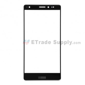 For Huawei Mate S Glass Lens  Replacement - Black - With Logo - Grade R