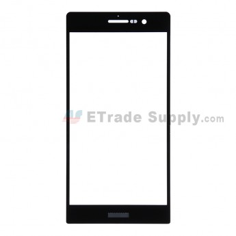 For Huawei Ascend P7 Glass Lens Replacement - Black - With Logo - Grade R