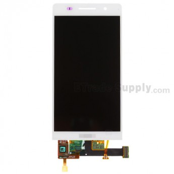 For Huawei Ascend P6 LCD Screen and Digitizer Assembly Replacement - White - With Logo - Grade A