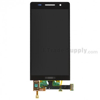 For Huawei Ascend P6 LCD Screen and Digitizer Assembly Replacement - Black - With Logo - Grade S+