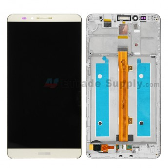 For Huawei Ascend Mate7 LCD Screen and Digitizer Assembly with Front Housing Replacement - Gold - With Logo - Grade S+