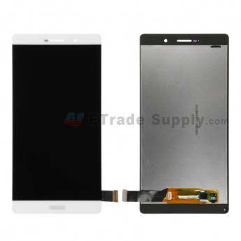 For Huawei P8max LCD Screen and Digitizer Assembly  Replacement - White - With Logo - Grade S+