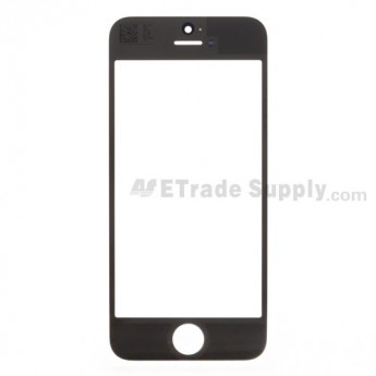 For Apple iPhone 5 Glass Lens  Replacement - Black - Grade R