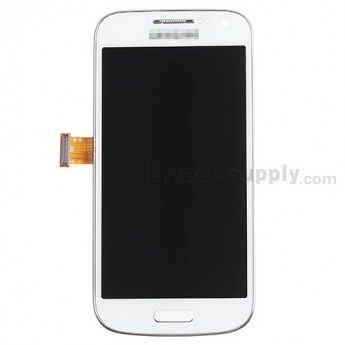 For Samsung Galaxy S4 Mini Duos GT-I9192 LCD Screen and Digitizer Assembly with Front Housing Replacement - White - Grade S+