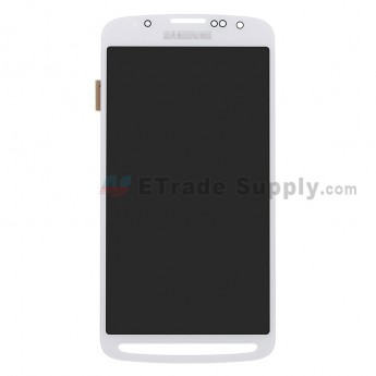 For Samsung Galaxy S4 Active GT-I9295/SGH-I537 LCD Screen and Digitizer Assembly Replacement - White - With Logo - Grade S