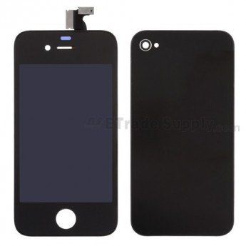 Apple iPhone 4 LCD and Digitizer Assembly with Battery Door and Home Button (AT&T) ,Black