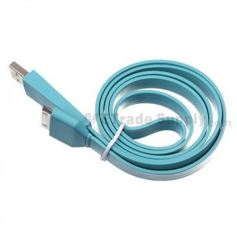 Apple iPod Nano Gen 7 Noodle USB Data Cable ,Blue