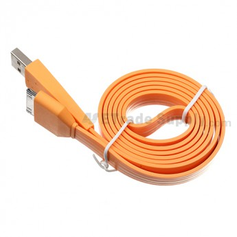 Apple iPod Nano Gen 7 Noodle USB Data Cable ,Orange