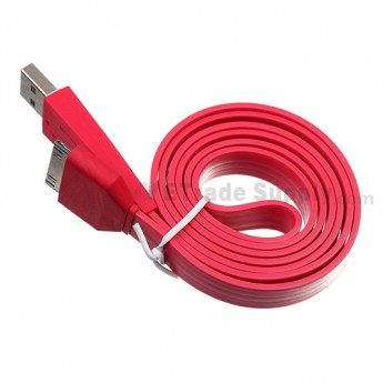 Apple iPod Nano Gen 7 Noodle USB Data Cable ,Red