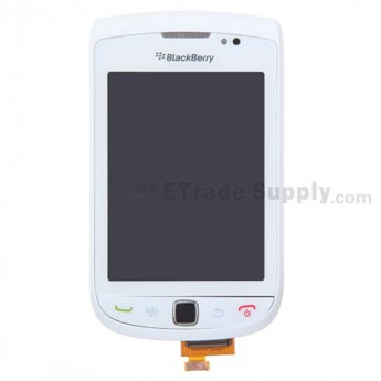 For BlackBerry Torch 9800 Upper Slide Assembly with LCD and Digitizer(LCD-26252-002/111) Replacement ,White - Grade S+
