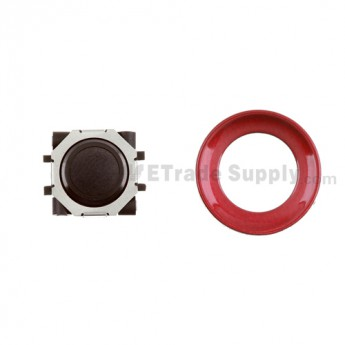 BlackBerry Pearl 8100,8300,8800,8220,9000 Black Trackball and Black Inner Ring Assembly with Outer Ring ,Dark Red