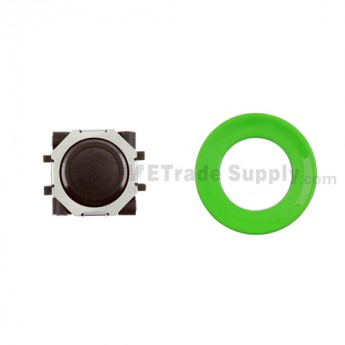 BlackBerry Pearl 8100,8300,8800,8220,9000 Black Trackball and Black Inner Ring Assembly with Outer Ring ,Neon Green