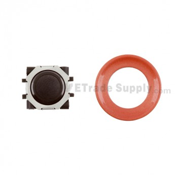BlackBerry Pearl 8100,8300,8800,8220,9000 Black Trackball and Black Inner Ring Assembly with Outer Ring ,Neon Orange