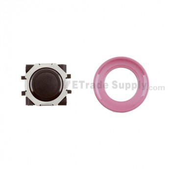 BlackBerry Pearl 8100,8300,8800,8220,9000 Black Trackball and Black Inner Ring Assembly with Outer Ring ,Pink