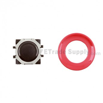 BlackBerry Pearl 8100,8300,8800,8220,9000 Black Trackball and Black Inner Ring Assembly with Outer Ring ,Red