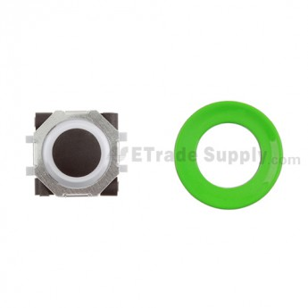 BlackBerry Pearl 8100,8300,8800,8220,9000 Black Trackball and White Inner Ring Assembly with Outer Ring ,Neon Green