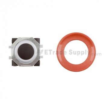 BlackBerry Pearl 8100,8300,8800,8220,9000 Black Trackball and White Inner Ring Assembly with Outer Ring ,Neon Orange