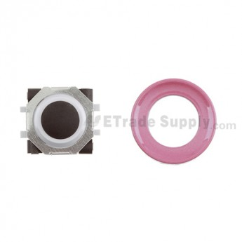 BlackBerry Pearl 8100,8300,8800,8220,9000 Black Trackball and White Inner Ring Assembly with Outer Ring ,Pink