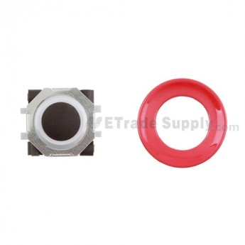 BlackBerry Pearl 8100,8300,8800,8220,9000 Black Trackball and White Inner Ring Assembly with Outer Ring ,Red
