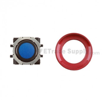 BlackBerry Pearl 8100,8300,8800,8220,9000 Blue Trackball and Black Inner Ring Assembly with Outer Ring ,Dark Red