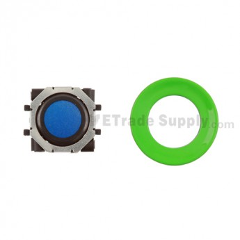 BlackBerry Pearl 8100,8300,8800,8220,9000 Blue Trackball and Black Inner Ring Assembly with Outer Ring ,Neon Green