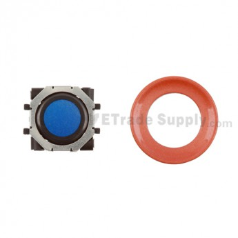 BlackBerry Pearl 8100,8300,8800,8220,9000 Blue Trackball and Black Inner Ring Assembly with Outer Ring ,Neon Orange