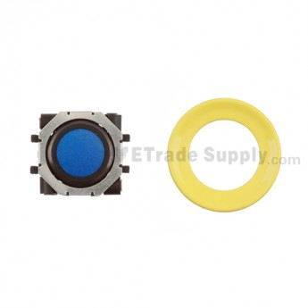 BlackBerry Pearl 8100,8300,8800,8220,9000 Blue Trackball and Black Inner Ring Assembly with Outer Ring , Neon yellow