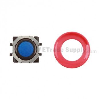 BlackBerry Pearl 8100,8300,8800,8220,9000 Blue Trackball and Black Inner Ring Assembly with Outer Ring ,Red