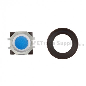 BlackBerry Pearl 8100,8300,8800,8220,9000 Blue Trackball and White Inner Ring Assembly with Outer Ring ,Black