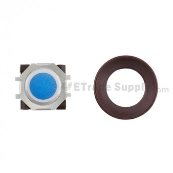 BlackBerry Pearl 8100,8300,8800,8220,9000 Blue Trackball and White Inner Ring Assembly with Outer Ring ,Dark Purple
