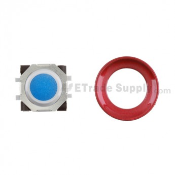 BlackBerry Pearl 8100,8300,8800,8220,9000 Blue Trackball and White Inner Ring Assembly with Outer Ring ,Dark Red