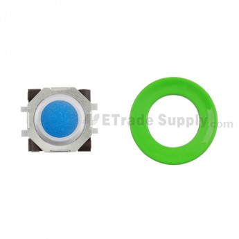 BlackBerry Pearl 8100,8300,8800,8220,9000 Blue Trackball and White Inner Ring Assembly with Outer Ring ,Neon Green